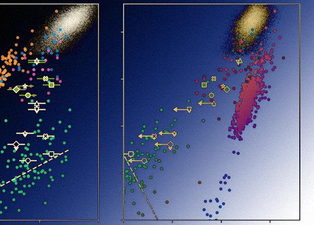 Активность ядер галактик возросла за несколько месяцев
