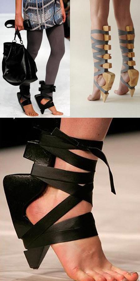 Абсолютно некомфортабельные и сумасшедшие каблуки модного мира
