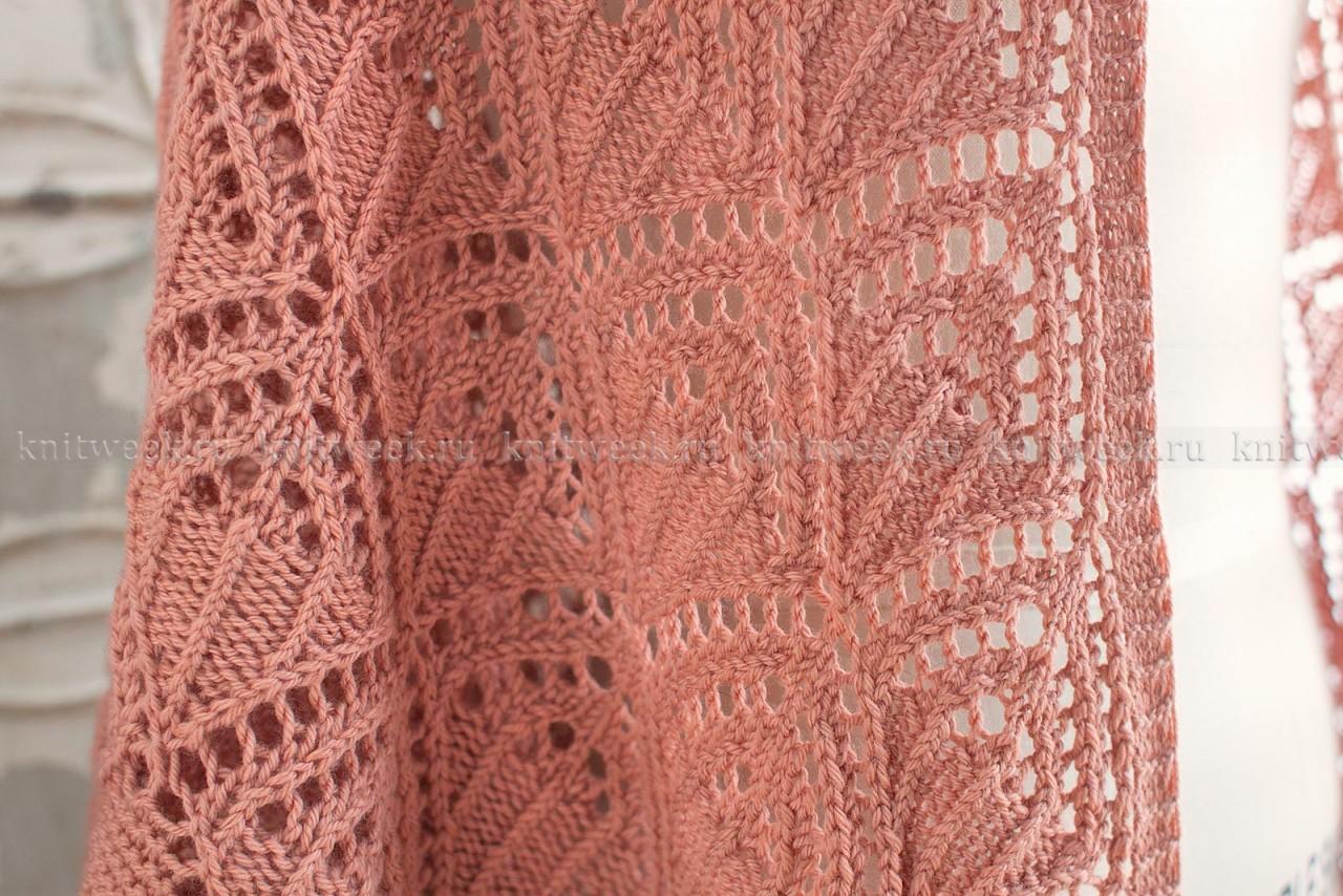 Ажурная шаль во французском стиле