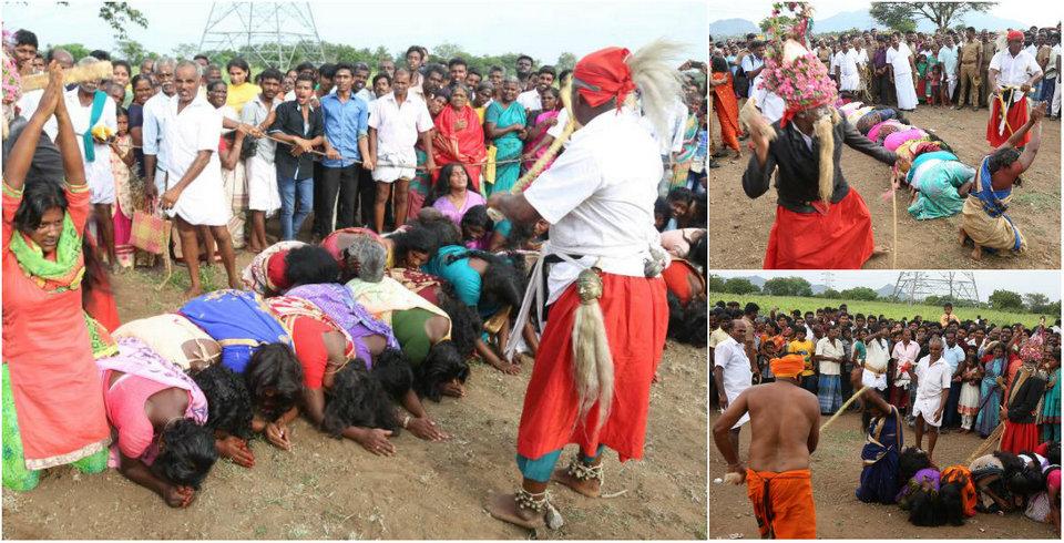 Тысячи  индийских женщин и девочек получили хлыстом, чтобы избавиться от злых духов