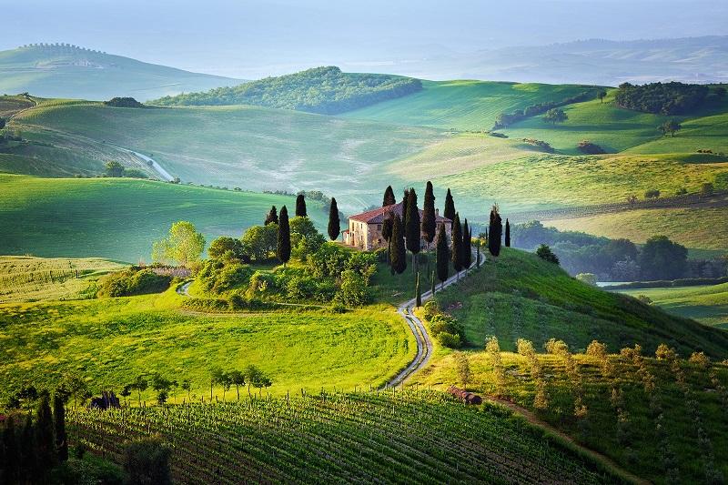 Необычайно живописные пейзажи Тосканы, Италия