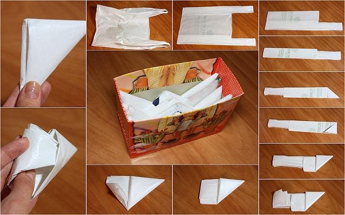 Мастер-класс по складыванию пакетов треугольником. / Фото: lesat-scorpio.livejournal.com