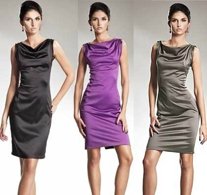 Шьем очаровательное платье с вырезом качелька