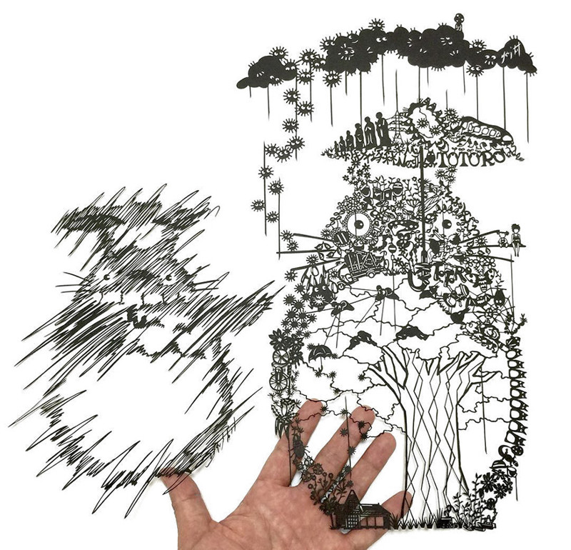 Тоторо Мандалы, бумага, зентангл, художник