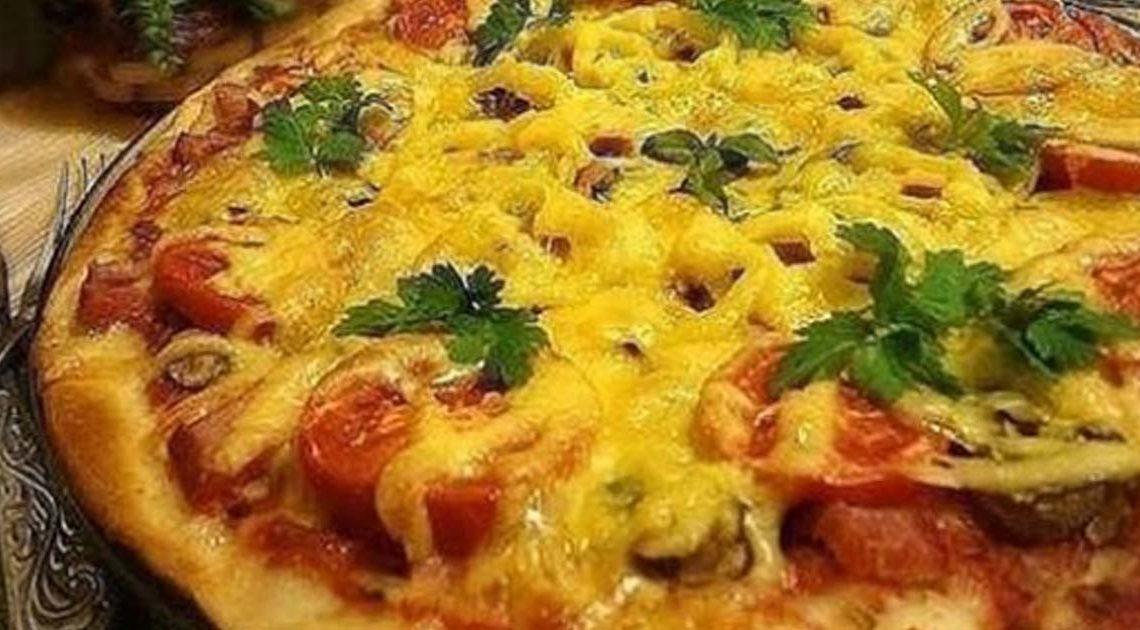 Невероятно вкусная тонкая итальянская пицца