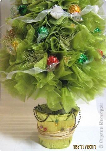 Мастер-класс, Свит-дизайн: МК елочки из конфет Новый год. Фото 32