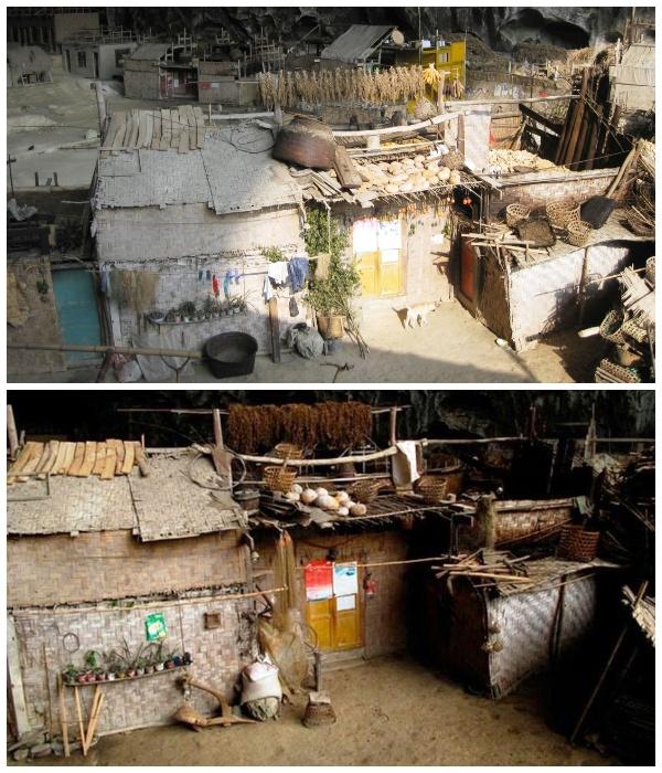 Подворья деревни Чжундун, расположенные в древней пещере.   Фото: youtube.com.