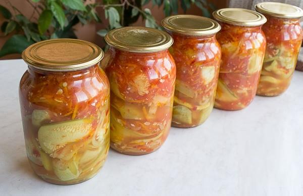 Салат из кабачков тещин язык на зиму рецепт
