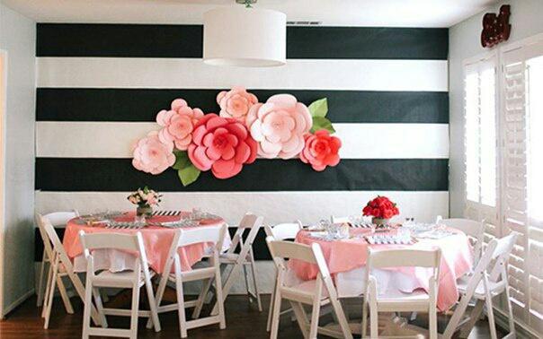 Мега цветы на стене diy