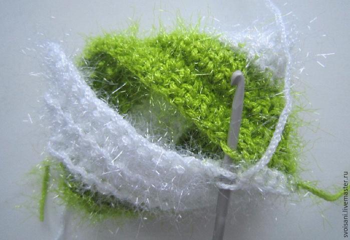 Вяжем крючком мочалку для мытья посуды: публикации и мастер