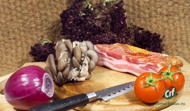 Грудинка свиная грибы
