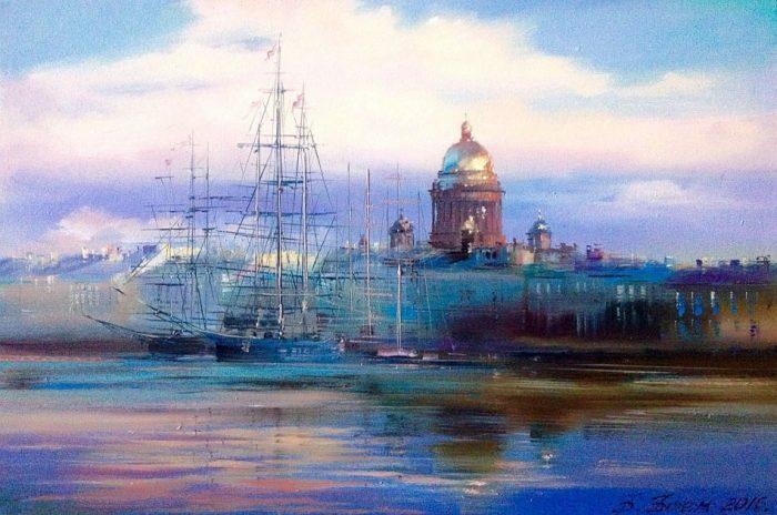 Есть город на Неве...тема любимого и родного города в творчестве художницы Бэгги Боем