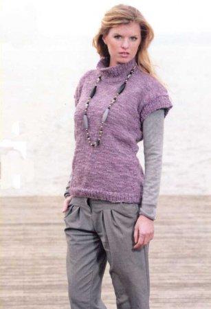 Сиреневый свитер