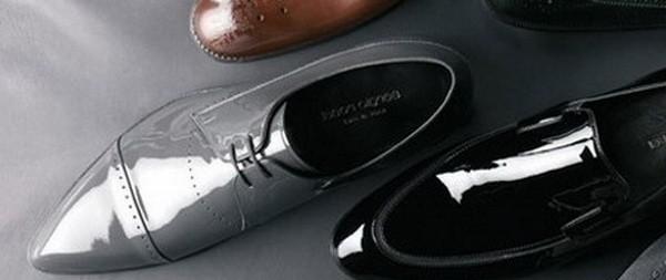 Обувь из лакированной кожи