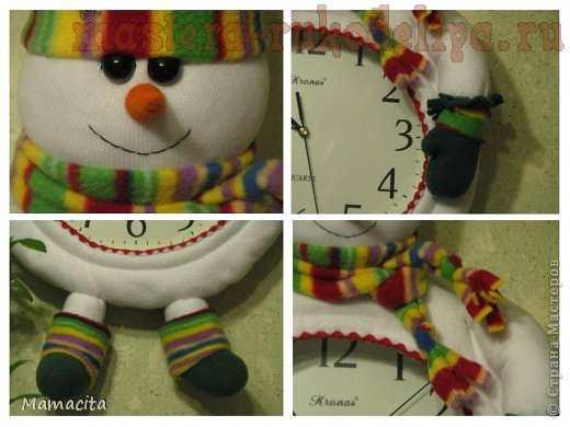 Мастер-класс по шитью: Снеговик на часы