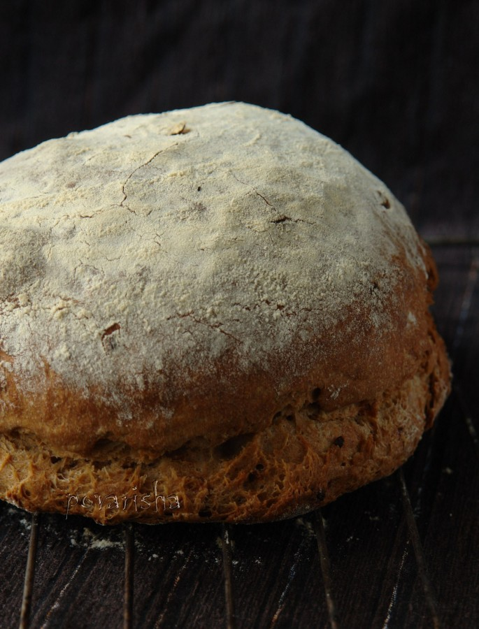 Хлеб на тёмном пиве с луком