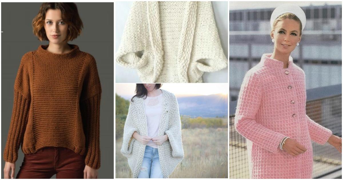 Готовимся к осени: 15 практичных накидок и свитеров, которые можно связать