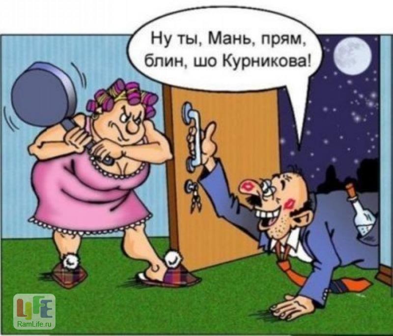 Приходит жена домой и видит:…