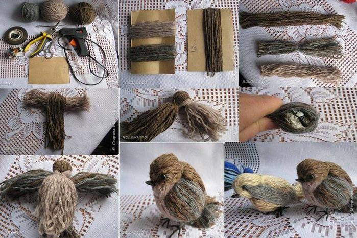 Птица из ниток своими руками