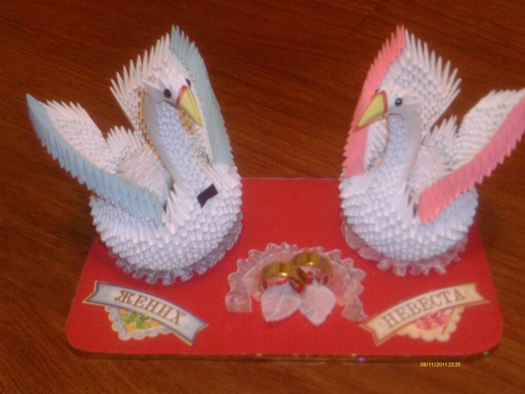 Модульное оригами. Лебедь. Мастер-класс