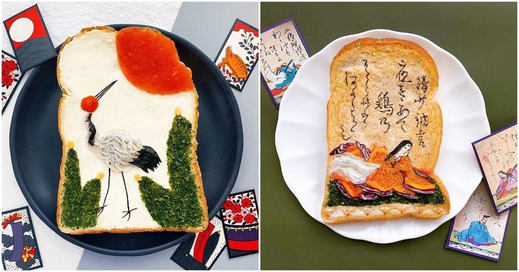 Креативные идеи подачи тостов от японского художника