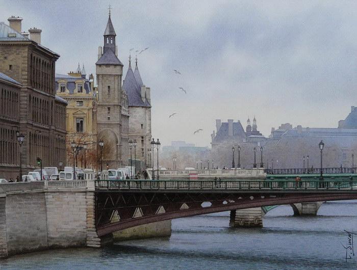 Любовь к Парижу в акварелях Thierry Duval