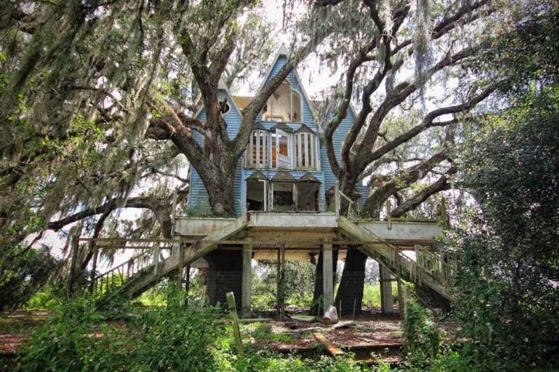 9. Дом на дереве в викторианском стиле, Флорида, США заброшенные места, крипи, прикол, ужас