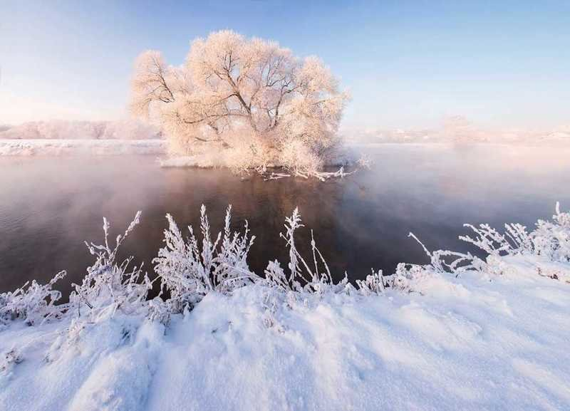 Сказочная красота Белоруссии зимой в фотографиях Алексея Угальникова зима, прекрасное, природа, фотографии