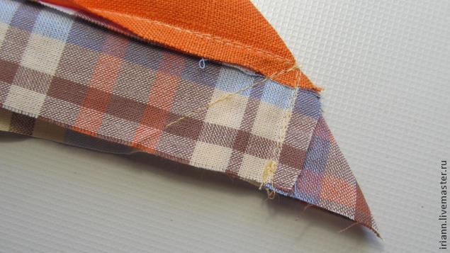 Как сделать уголок из ткани