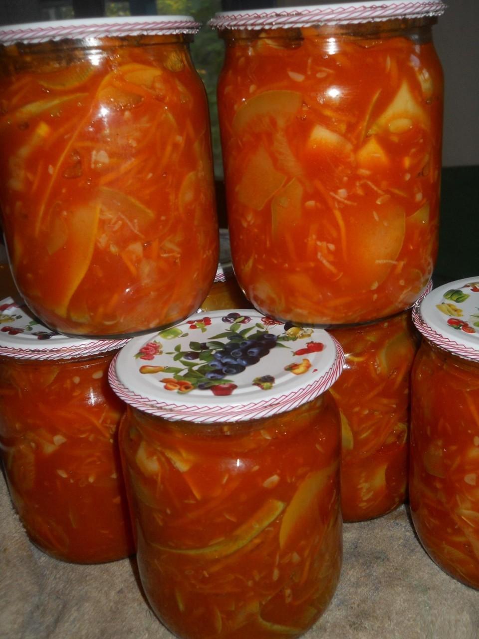 Заготовки тёщин язык из кабачков на зиму с