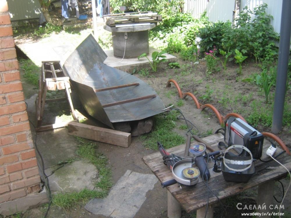 как сделать лодку из метала