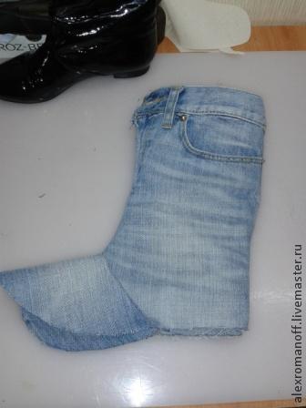 Домашние угги своими руками из джинсы