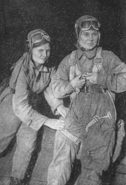 Тамара Памятных и Галина Бурдина после ночного боя