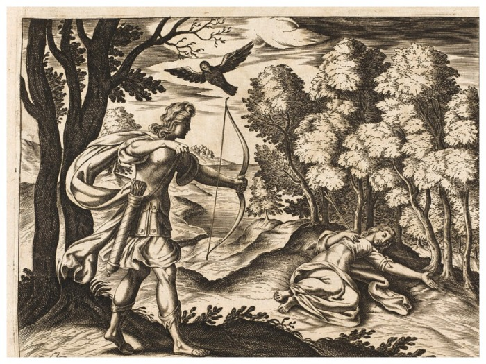 Согласно преданию, Аполлон убил Корониду за измену, и из нее извлекли Эскулапа / Фото: fineartamerica.com