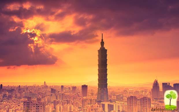 Гигантский небоскреб Тайбэй 101 в Тайване - 7