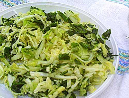 Летний салат к шашлыку