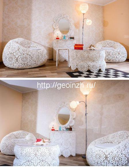 кружевная мебель в интерьере