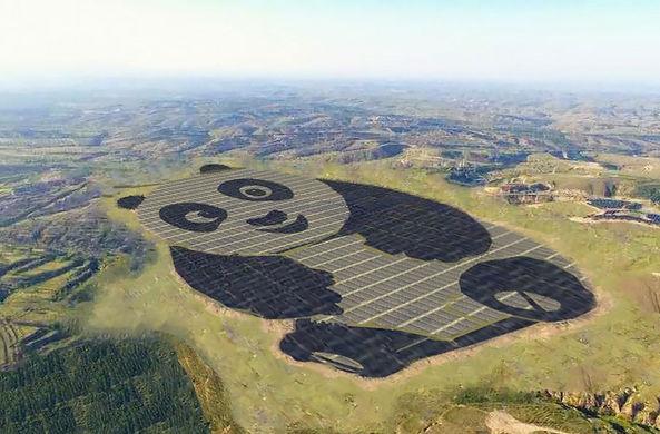 В Китае построили самую милую солнечную электростанцию в мире