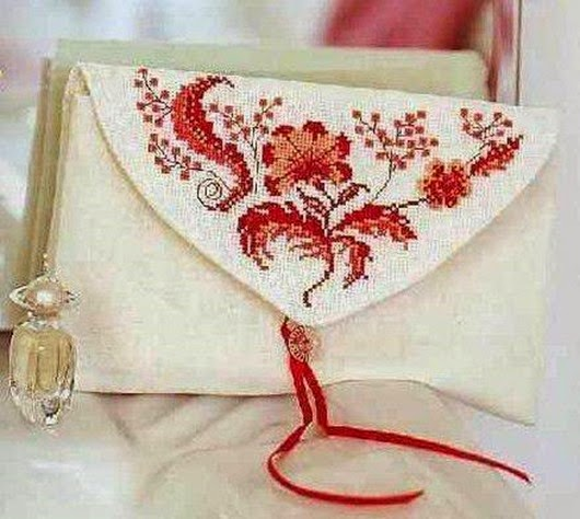 Вышивка крестом на сумке своими руками