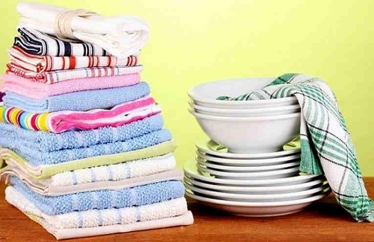 Как отстирать кухонные полотенца и удалить с них даже застарелые пятна. Полотенца будут, как новые