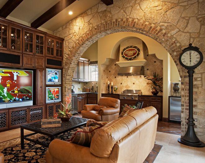 декор зала с аркой