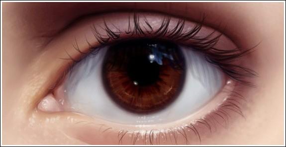 Глаза карие какой цвет
