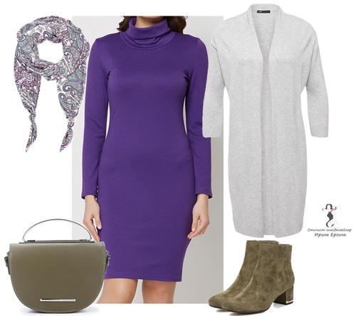 несколько различных цветовых комбинаций с фиолетовым цветом