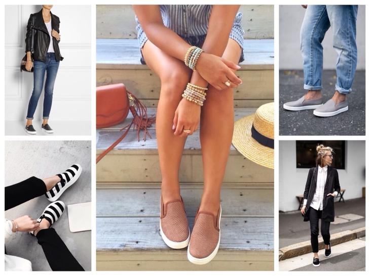 С чем носить слипоны: удобная мода