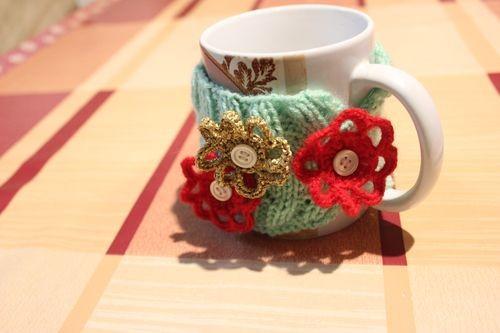 Чехол для кружки с цветочками