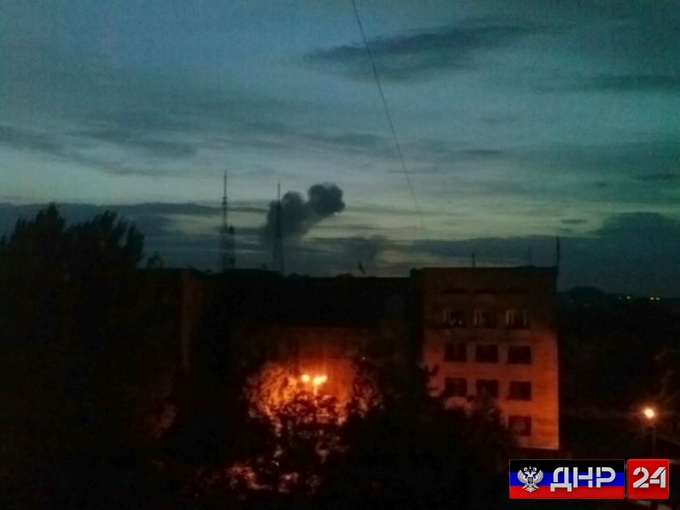 Жители Донецка сообщают о мощном взрыве в городе