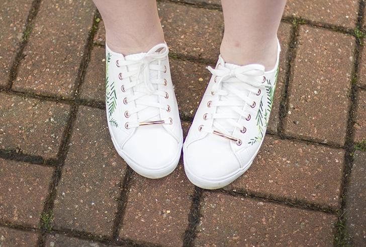 Вышитые кроссовки (diy)