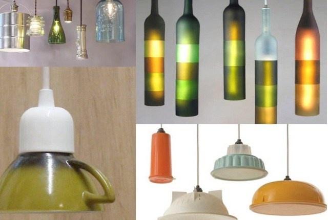 Светильники из посуды и фонаря