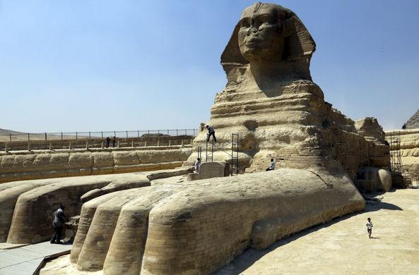 В Египте нашли еще одну статую Сфинкса