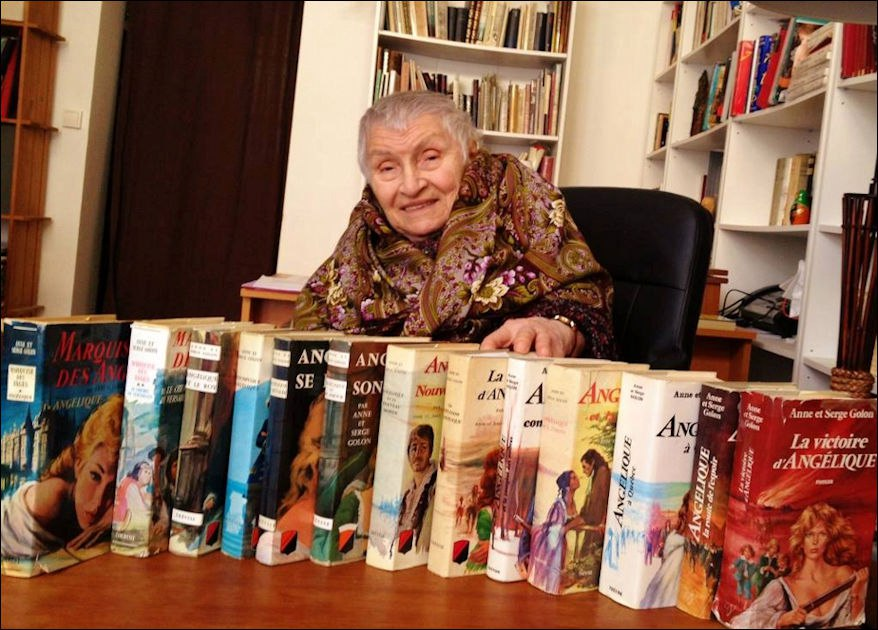 Ушла автор романов об Анжелике Анн Голон